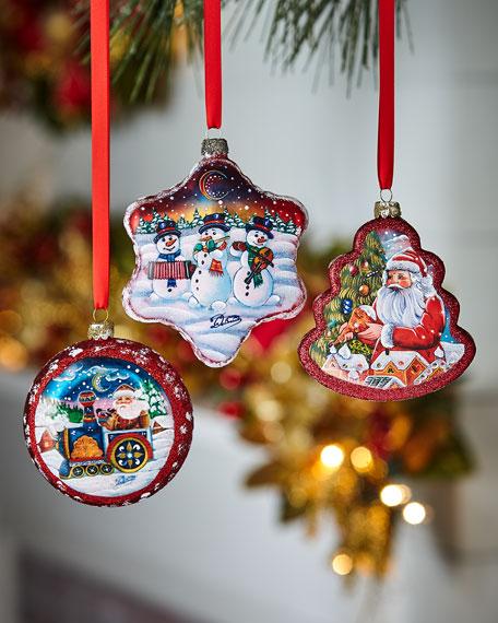 G. Debrekht Christmas Ornaments, Set of 3