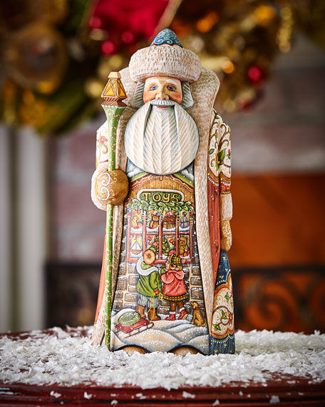 G. Debrekht Limited-Edition Hand-Carved Santa