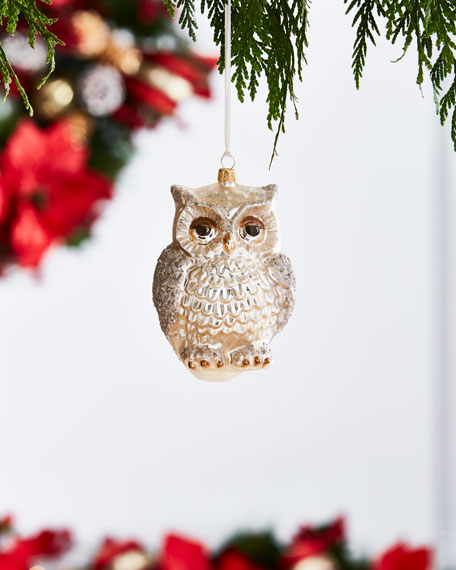 Gold & Glitter Collection Owl Ornament