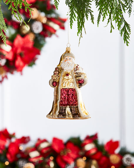 Glassware Art Studio Gold & Glitter Collection Santa