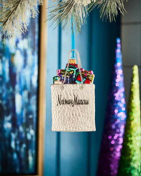 Playful Brights Collection Neiman Marcus Shopping Bag Ornament