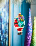 Playful Brights Collection Roly-Poly Santa Ornament