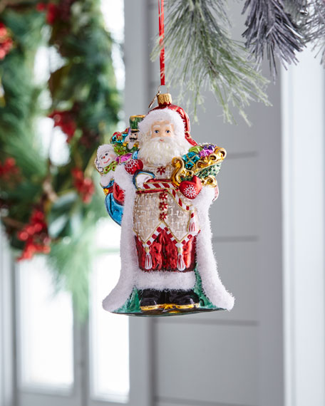 John Huras Santa with Bag Ornament