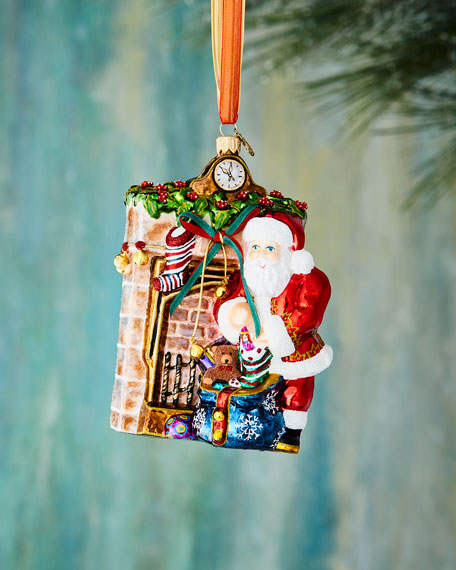 John Huras Santa by Mantel Ornament