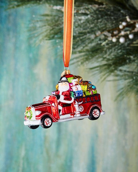 John Huras Santa in Car Ornament