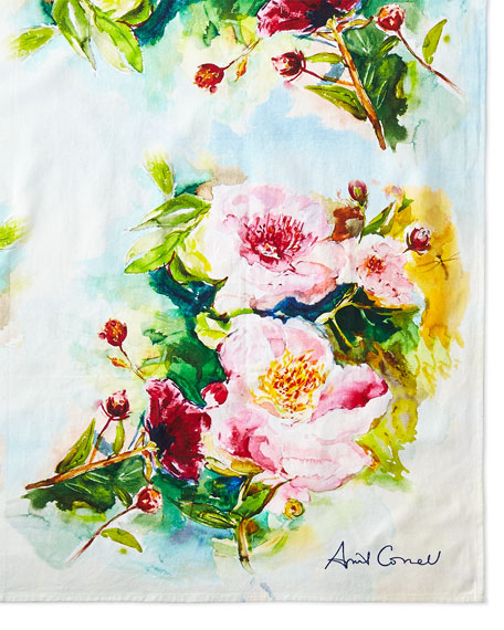 April Cornell Peony Tablecloth, 54