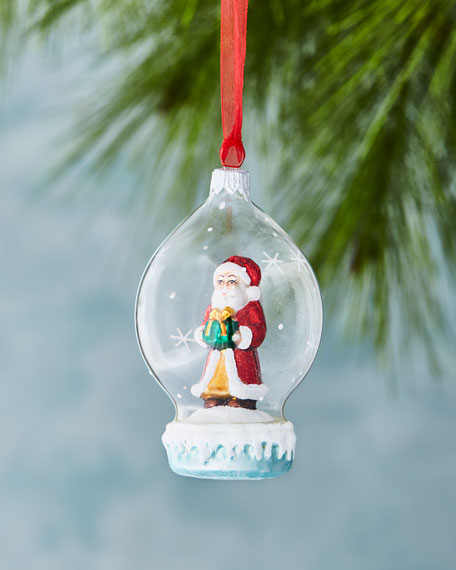 Snow Globe Santa Ornament