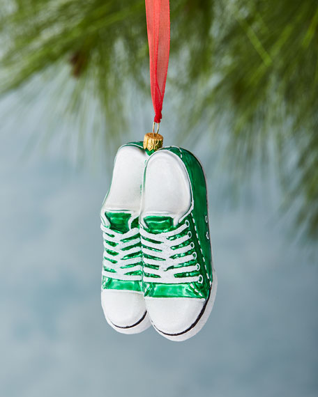 Green Low-Top Sneaker Ornament