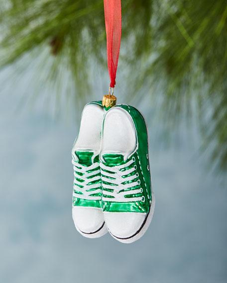 Green Low-Top Sneaker Ornament