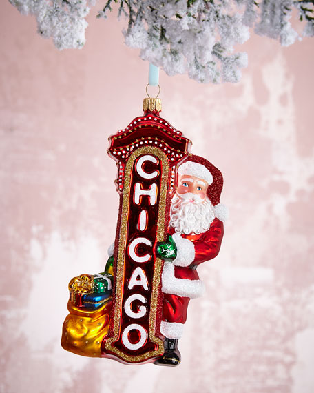 Santa Claus in Chicago Ornament