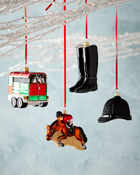 Equestrian Ornaments, Set of 4