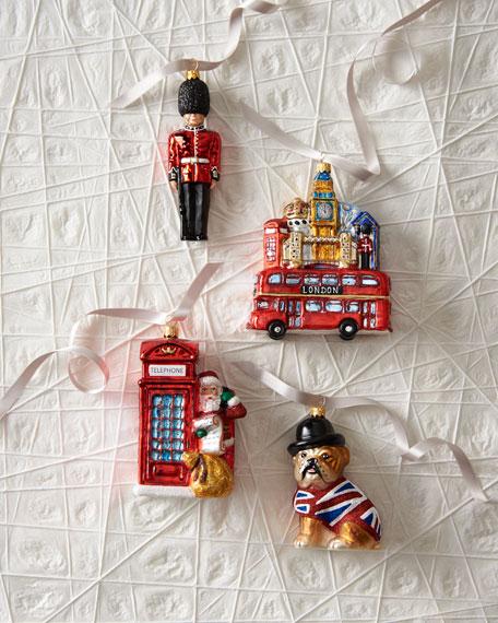 London Christmas Ornaments, Set of 4