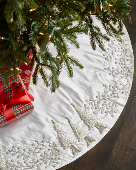 White & Silver Collection Tree Skirt