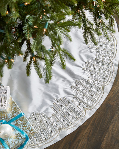 white silver collection christmas tree skirt - White Christmas Tree Skirt