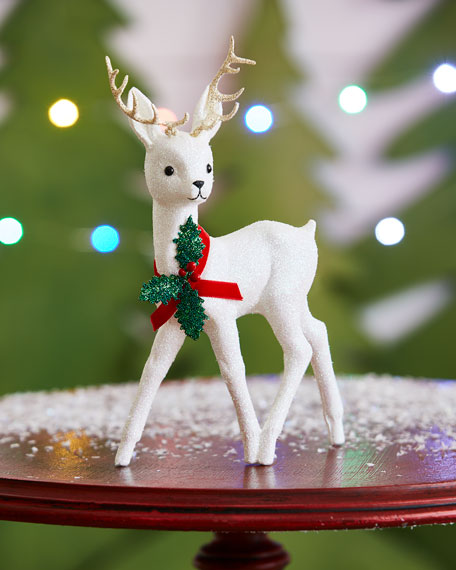 White Reindeer Collectible, Small