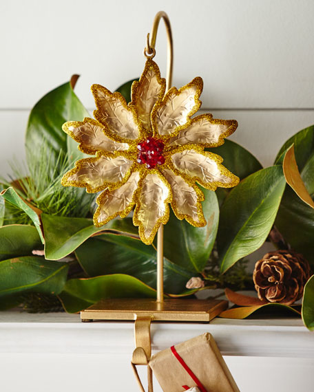 Flower/Golden Glitter Stocking Holder