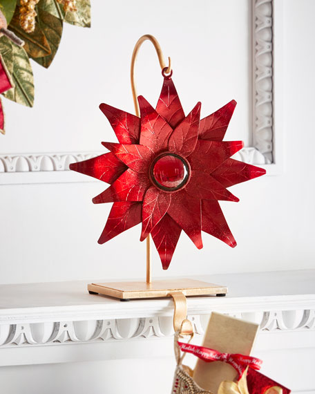 Janice Minor Red Poinsettia Stocking Holder
