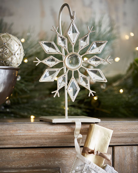 Snowflake Stocking Holder wi