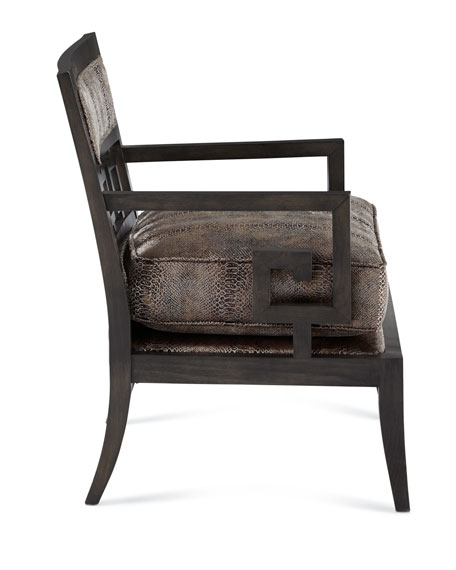 Serpent Greek Key Accent Chair
