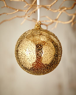 Gold & Glitter Collection Beaded Ball Ornament, 4.75
