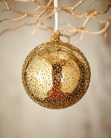 Jim Marvin Gold & Glitter Collection Beaded Ball