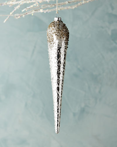 White & Silver Collection Icicle Ornament