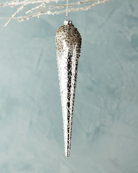 Jim Marvin White & Silver Collection Icicle Ornament
