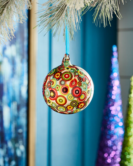 Playful Brights Collection Flower Ball Ornament