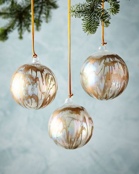 Iridescent Ball Ornament, 4""