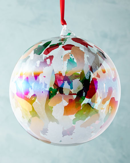 Marble Ball Ornament, 6""