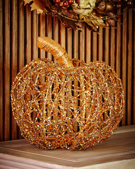 BEADED TWINE PUMPKIN 15