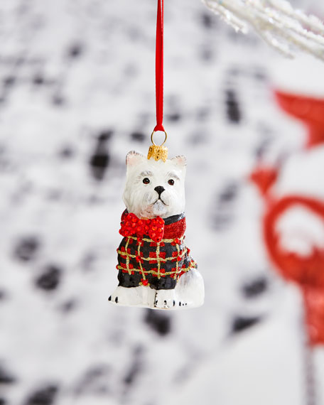 Joy To The World Collectibles Westie in Tartan