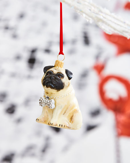 Rapper Fawn Pug Ornament