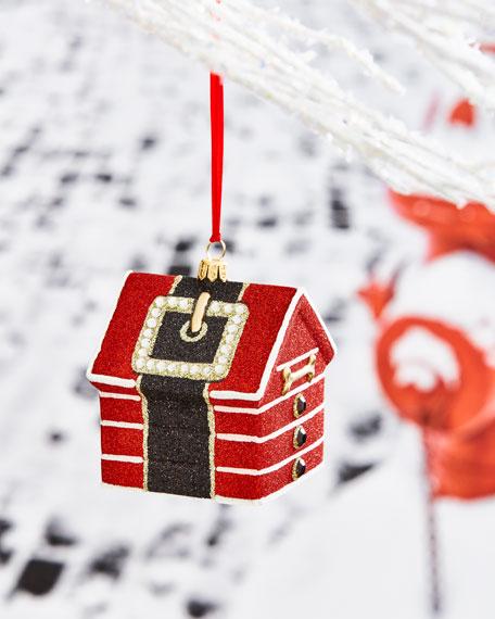 Santa Paws Dog House Ornament