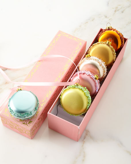 Custom Boxed Macaron Ornaments, Set of 6