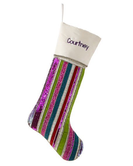 Playful Brights Collection Stocking