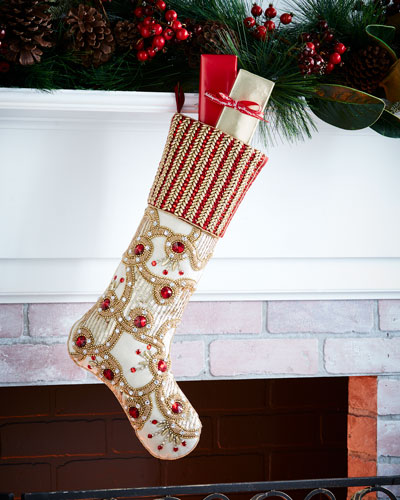 Fireworks Christmas Stocking