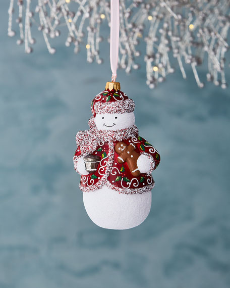 Nighty Night Charlie Snowman Ornament