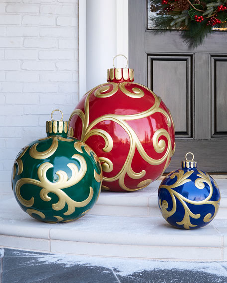 Outdoor christmas ornament large neiman marcus for Outdoor merry christmas ornaments
