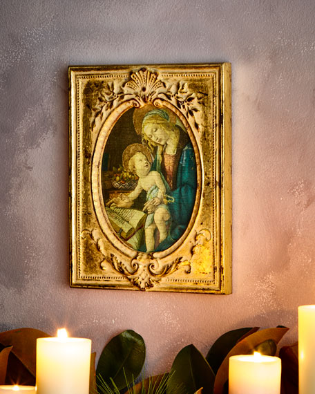 Madonna and Child Square Painting