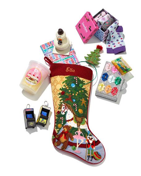 Christmas Toys Needlepoint Stocking