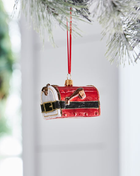 Red & Green Collection Santa Mailbox Ornament