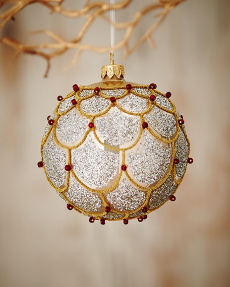 Gold & Silver Shiny Ball Ornament