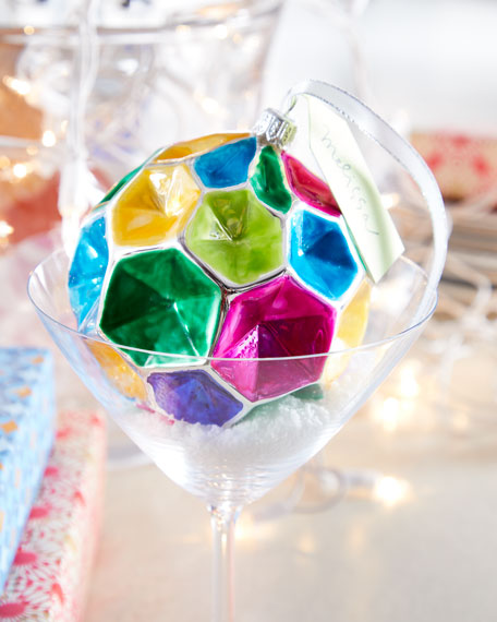Playful Brights Collection Matte & Shiny Kaleidoscope Ornament