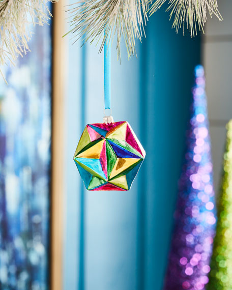 Playful Brights Collection Faceted Ornament