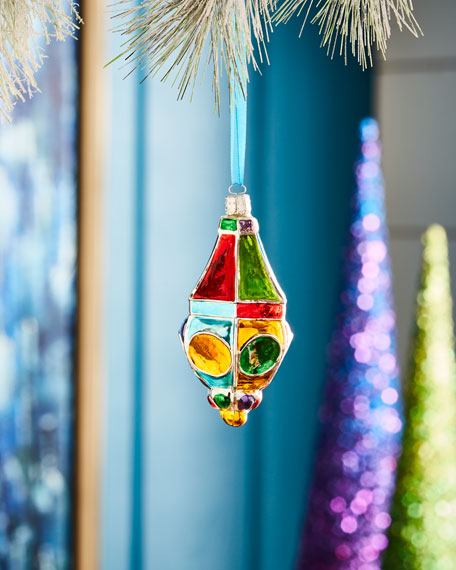 Playful Brights Collection Shiny Finial Ornament
