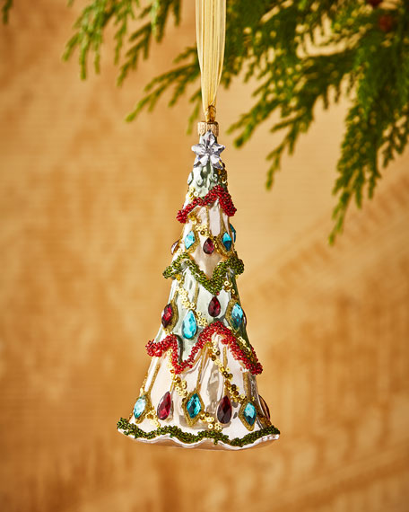 Silverado Faux-Jewel Christmas Tree Ornament
