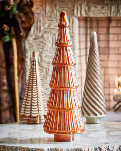 Red & Green Collection Mercury Copper Ribbed Tree