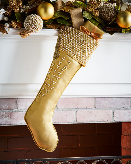 Sudha Pennathur Gold & Glitter Collection Organza Stocking