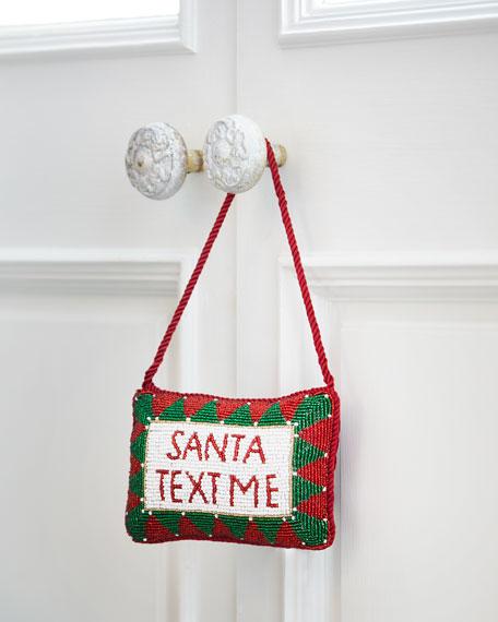 Santa, Text Me Door Knocker